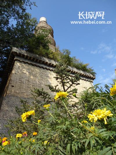 半截塔镇名字的由来――兴建于元代的白塔。1982年被选为河北省重点文物保护单位。摄影 崔飞