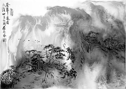 徐葆欣   卢金德   泼墨大写意如果是对景写生的画,将获得的是一种图片