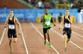 图文:2011钻石联赛布鲁塞尔站 男子400米冲刺