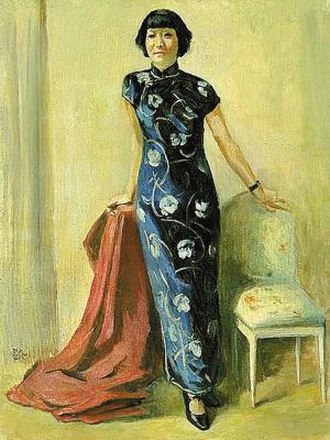 徐悲鸿1941年创作的蒋碧薇肖像作品。(资料图片)
