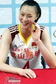 图文:[女排]中国3-0哈萨克斯坦 惠若琪表情可爱