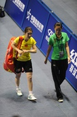 图文:[羽毛球]王适娴女单登顶 蒋燕皎退出比赛