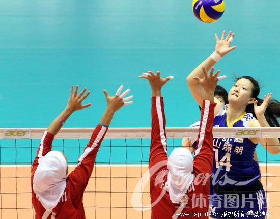 陈丽怡在比赛中