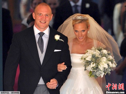7月30日,扎拉公主与英格兰榄球队队长迈克·廷德尔在苏格兰举行婚礼