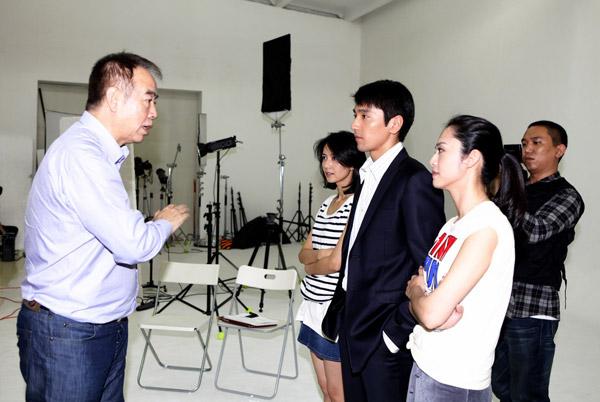 陈凯歌给三位演员讲戏