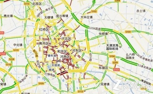 谷歌地图实时交通路况覆盖远郊区 google地图新增我国12 高清图片
