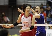 图文:女排亚锦赛中国队夺冠 惠若琪霸气外露