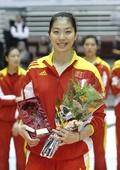图文:女排亚锦赛中国队夺冠 杨菁珺微笑