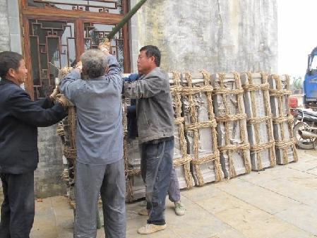 大型砖雕 西游记 运至非遗园