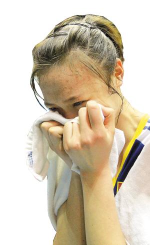 惠若琪夺冠后喜极而泣。新华社发