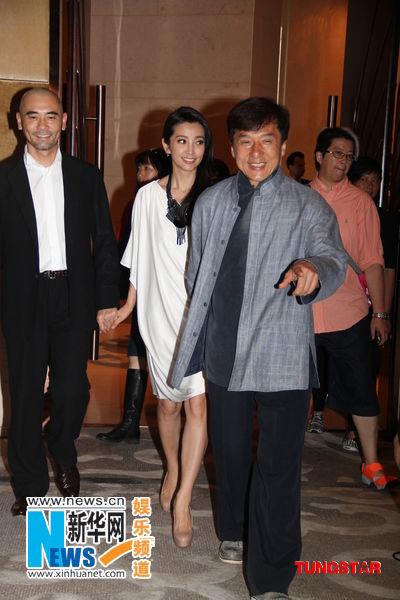成龙、赵文瑄、李冰冰出席《辛亥革命》发布会