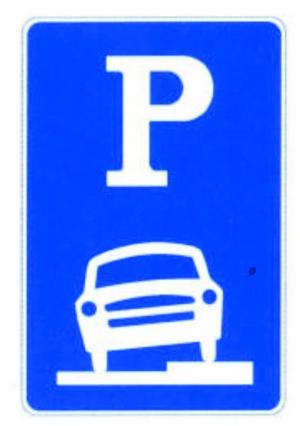 临时停车标志