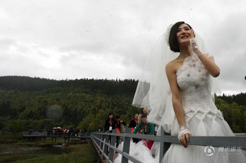 张杰谢娜历程_高清:张杰谢娜婚礼现场 下跪说誓言新娘落泪(组图)-搜狐滚动