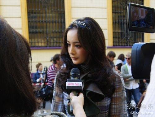 杨幂接受《名利场》采访