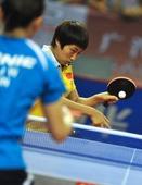 图文:乒乓球亚洲杯郭跃晋级四强 郭跃侧身击球