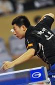 图文:乒乓球亚洲杯马龙晋级四强 马龙发球瞬间