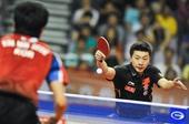 图文:乒乓球亚洲杯马龙晋级四强 两军对垒