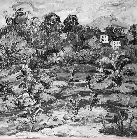 荷叶睡莲平面手绘图