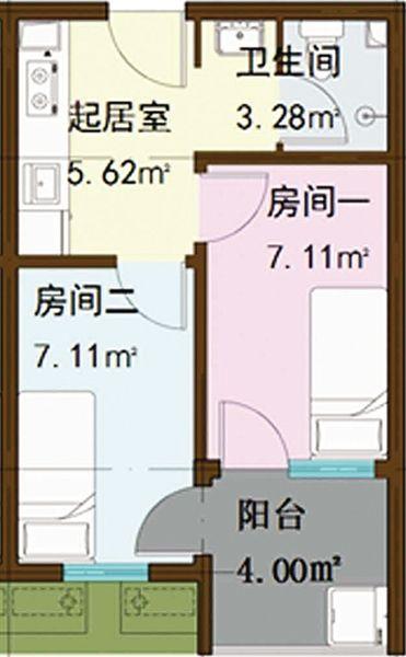 青年公租房一个户型图.图片