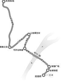 图为:武汉大道示意图。