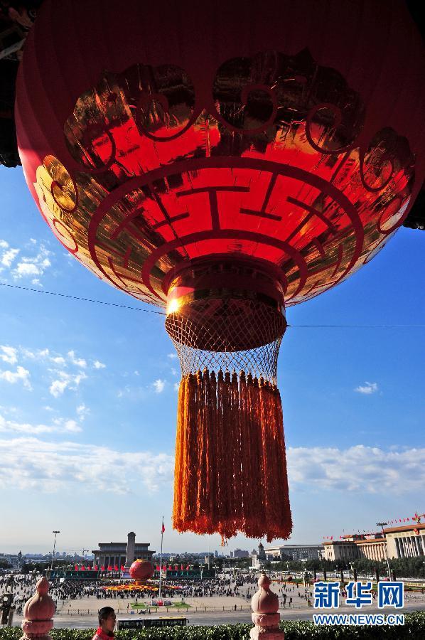 为节日里悬挂灯笼_北京天安门城楼大红灯笼高挂迎国庆(组图)-搜狐滚动
