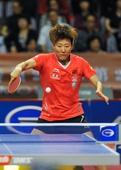 图文:乒乓球亚洲杯郭焱获冠军 郭焱气势足