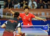 图文:乒乓球亚洲杯郭焱获冠军 反手推挡