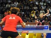 图文:乒乓球亚洲杯郭焱获冠军 姜华珺回球