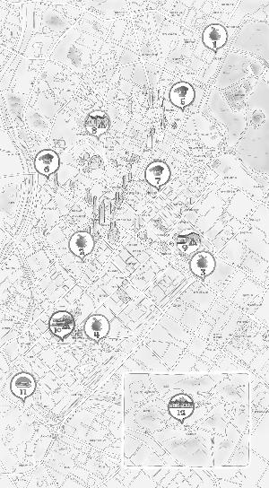 南京特色旅店手绘地图