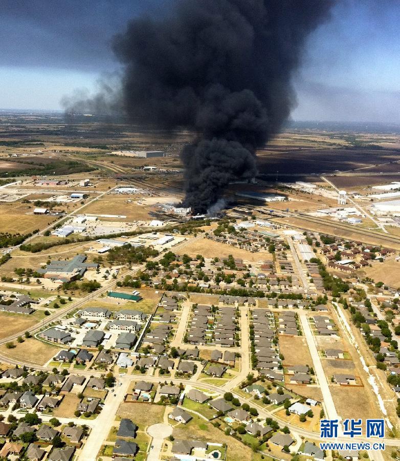 美国得克萨斯州达拉斯以南20公里处的沃克西哈奇市一化工厂3日上午发生的大火已基本被扑灭,大火及其引起的爆炸事故未造成人员伤亡,也未造成生态灾难。新华社/美联