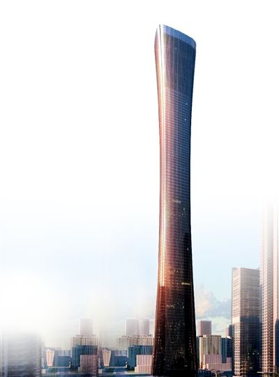 广州第一高楼外景资料图片