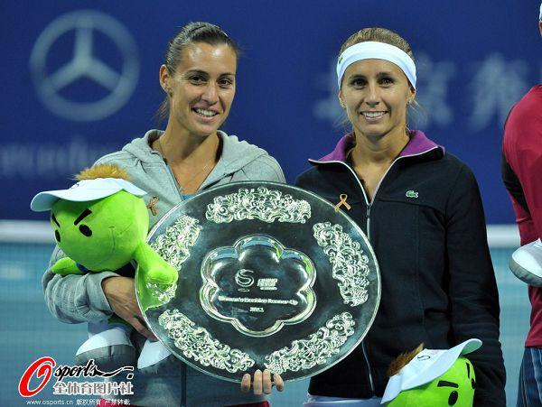 图文:中网女双冠军诞生 杜尔科和佩内塔