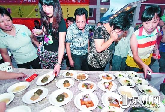美食节上泉州游客很推动重点,我市此来吸引v游客.陈小阳摄高中小吃考怎么办上不图片