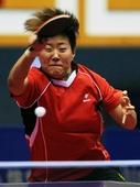 图文:全国乒乓球锦标赛赛况 李晓霞凌厉进攻