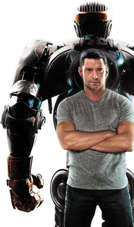 在《铁甲钢拳》中,休·杰克曼希望把机器人亚当训练成为拳坛冠军