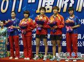 图文:[全锦赛]山东女团登顶 女团亚军北京队