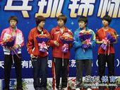 图文:[全锦赛]山东女团登顶 第三名辽宁队