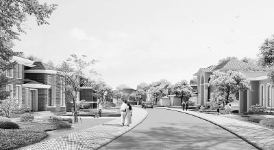 校园广场手绘透视图