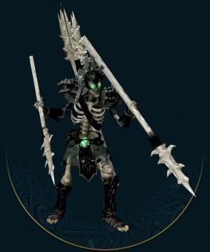 骷髅是腐烂、干枯的尸体,被亡灵巫师的意志操纵。骷髅拥有绝对盲目的忠诚,无需食物和饮水,而且不懂得恐惧和怀疑,因此被认为是极好的仆役。