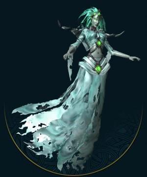 当诸龙神的子民们死去之后,他们的灵魂脱离躯体,飘向月亮,在亚莎的指引下得到永生。然而,生前的不幸可能导致幽灵的诞生,这是一类被巨大的负面情绪束缚在物质世界的灵魂。