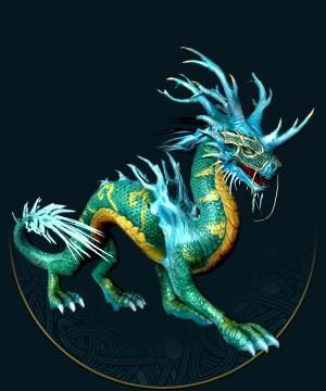在娜迦族的文化中,掌控着所有形态的水(雨水、冰雹、云彩、迷雾……)的灵兽麒麟不但是智慧的源泉,同时也是领主的授予者。