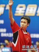图文:[乒乓球]全锦赛男团决赛 尚坤挥手示意
