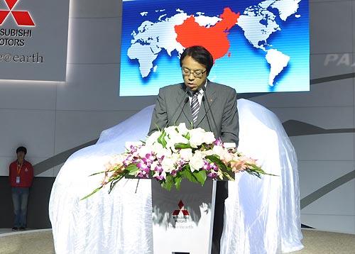 三菱汽车销售(中国)有限公司副总经理山崎先生致辞