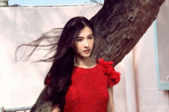 张柏芝在《曾经》MV中的造型预告版