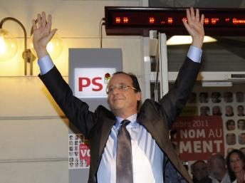 法国反对党社会党总统候选人初选 奥朗德获胜