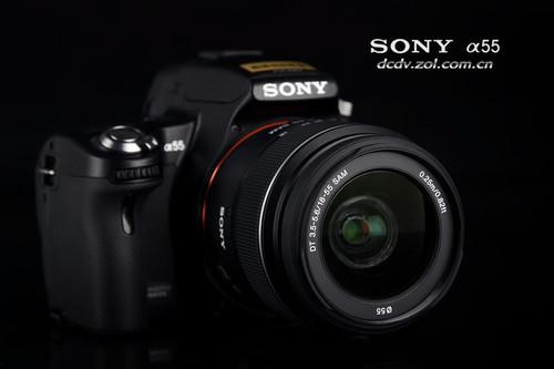 图为:索尼单电相机A55