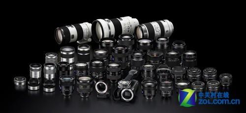 NEX-VG20E和A镜头、E镜头群组
