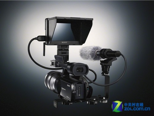 索尼VG20E搭载外接麦克风和监视器效果