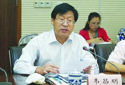 南京市环保局局长韦昌明