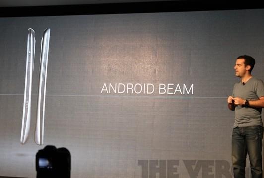 Android Beam:支持2部NFC手机数据交换